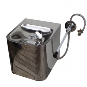 Lever Operated Stainless Steel Wall Mounted Fountain With Robust Bottle Filler F6OLO